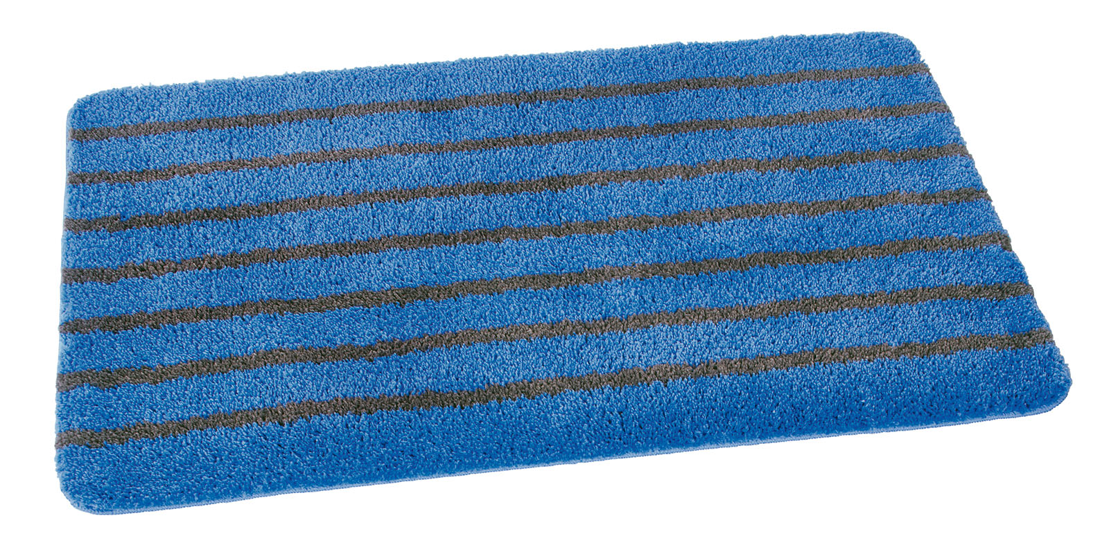 mikrofaser badteppich 60x100cm blau grau gestreift ean794. Black Bedroom Furniture Sets. Home Design Ideas