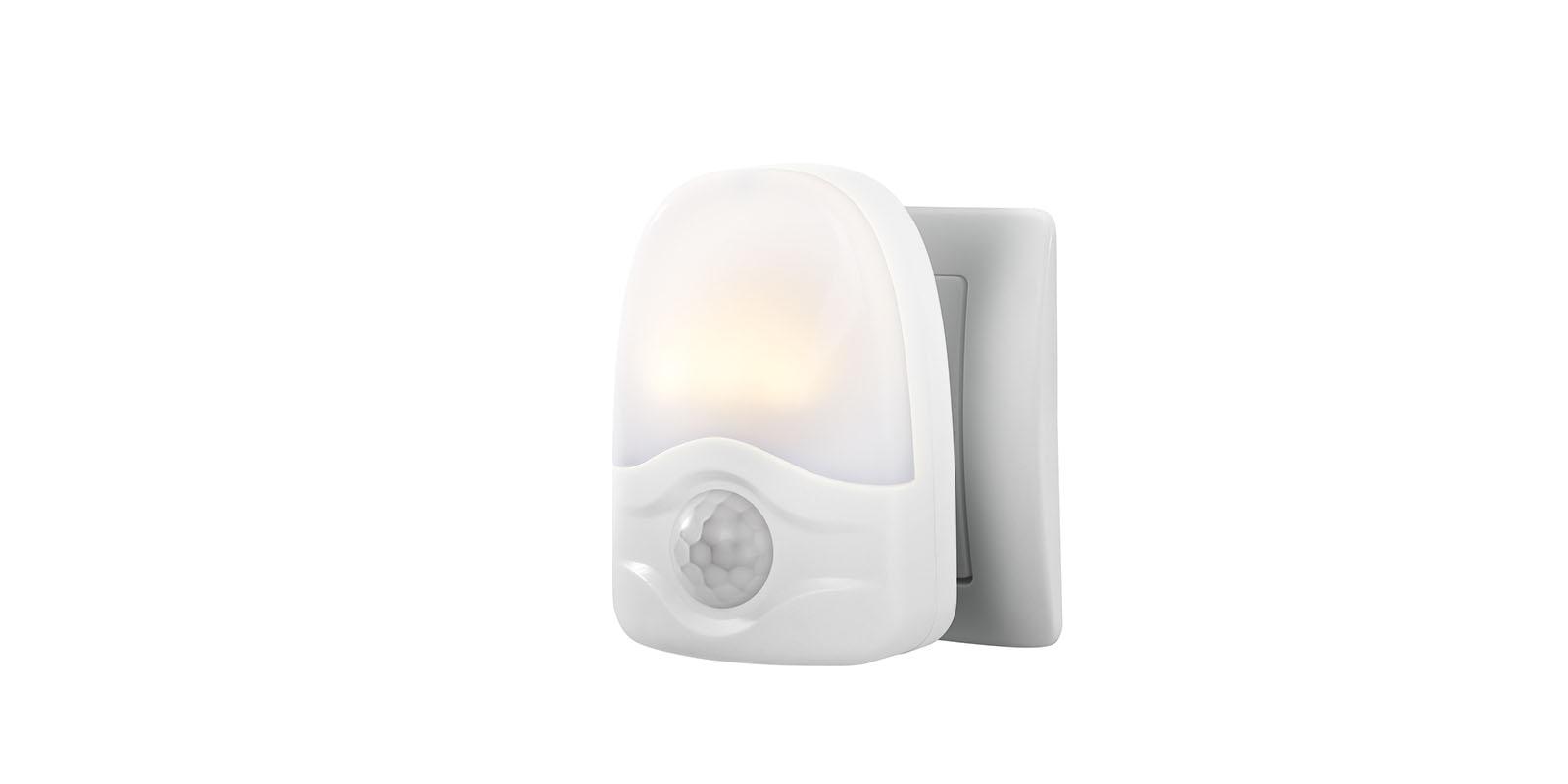 nachtlicht led warmweiss mit bewegungsmelder steckdosenlicht orientierungs nacht ebay. Black Bedroom Furniture Sets. Home Design Ideas