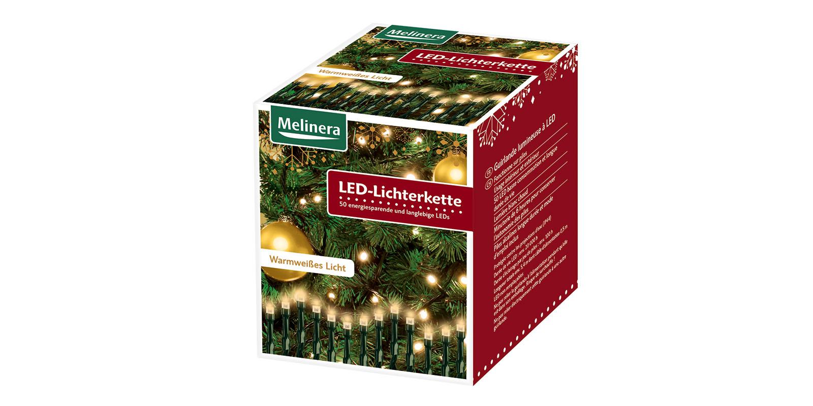 weihnachts lichterkette 50 led f r au en ean667 batteriebetrieben warmwei ebay. Black Bedroom Furniture Sets. Home Design Ideas