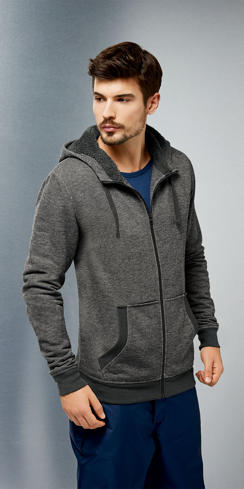 herren sweatjacke grau gr l ean193 jacke eur 4 99. Black Bedroom Furniture Sets. Home Design Ideas