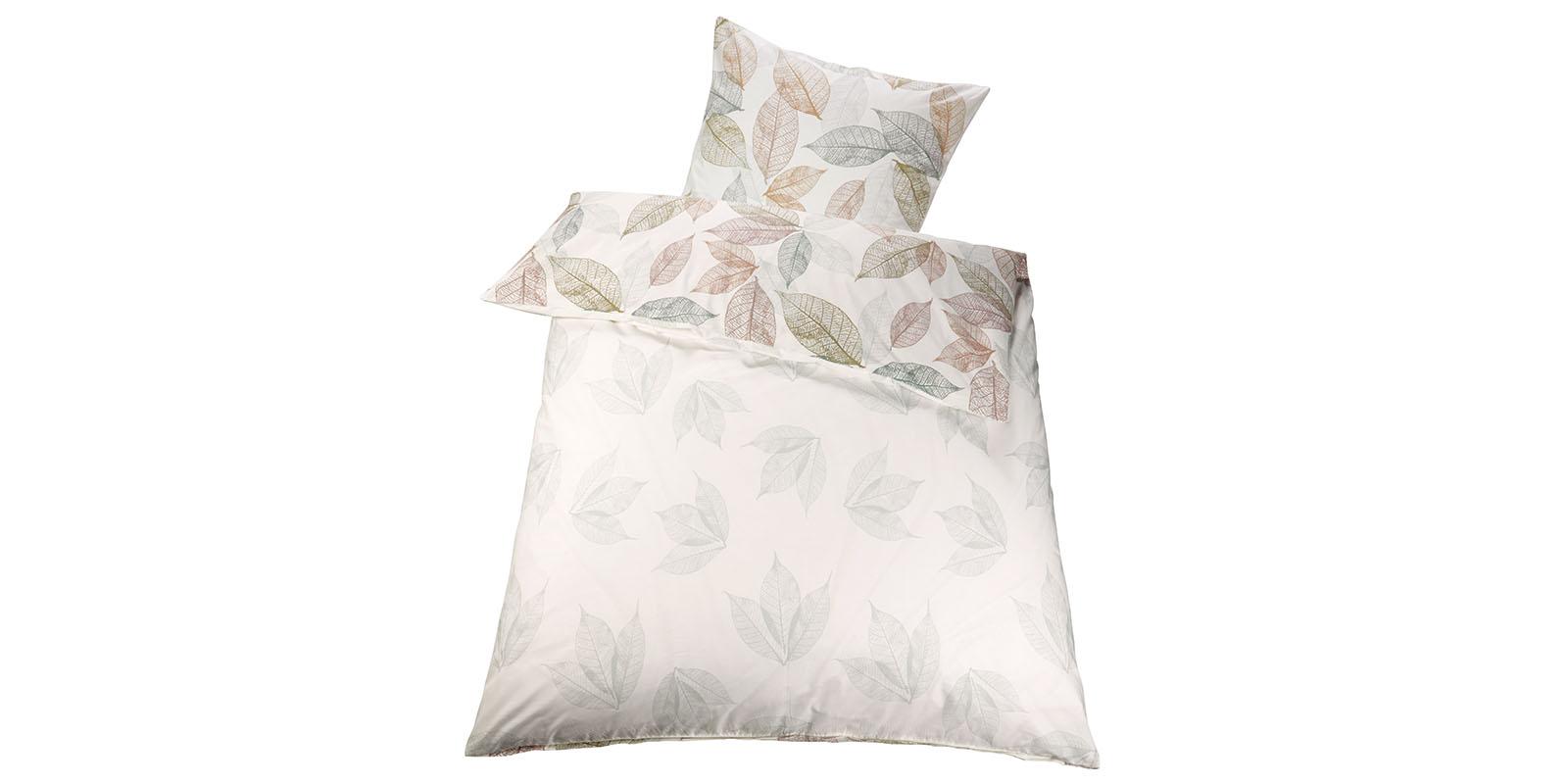 bettw sche wende renforc bio bw 135x200 bl tter muster ean984 ebay. Black Bedroom Furniture Sets. Home Design Ideas