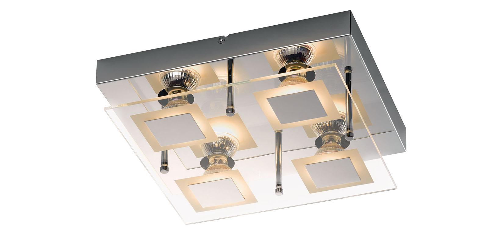 Deckenleuchte led 4 flammig eckig ean593 kratzer lampe for Led deckenlampe eckig
