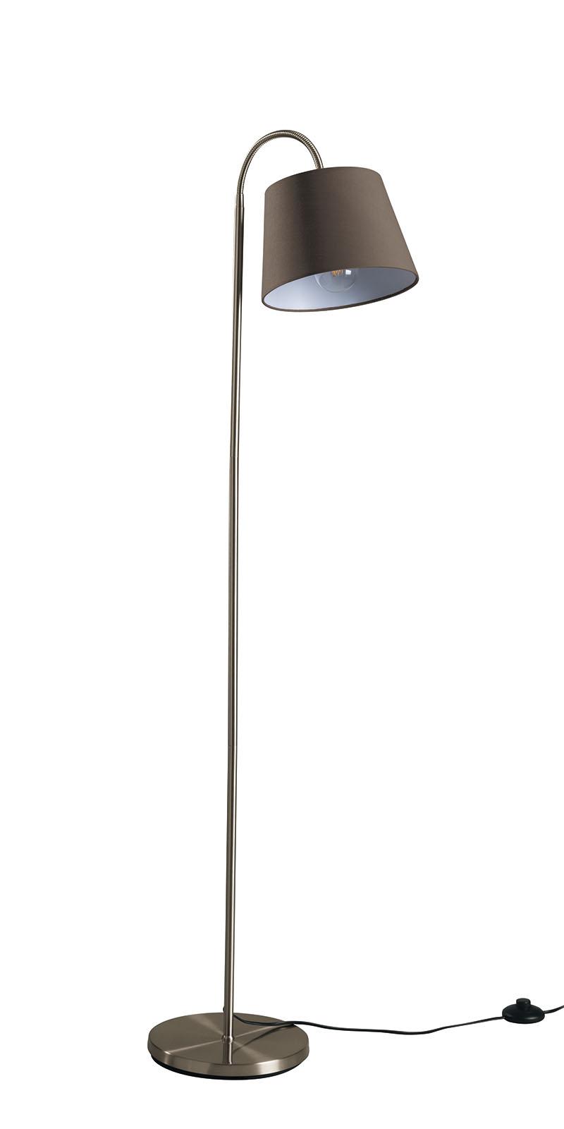 beistellleuchte led textil taupe stehlampe stehlampe leselampe ebay. Black Bedroom Furniture Sets. Home Design Ideas