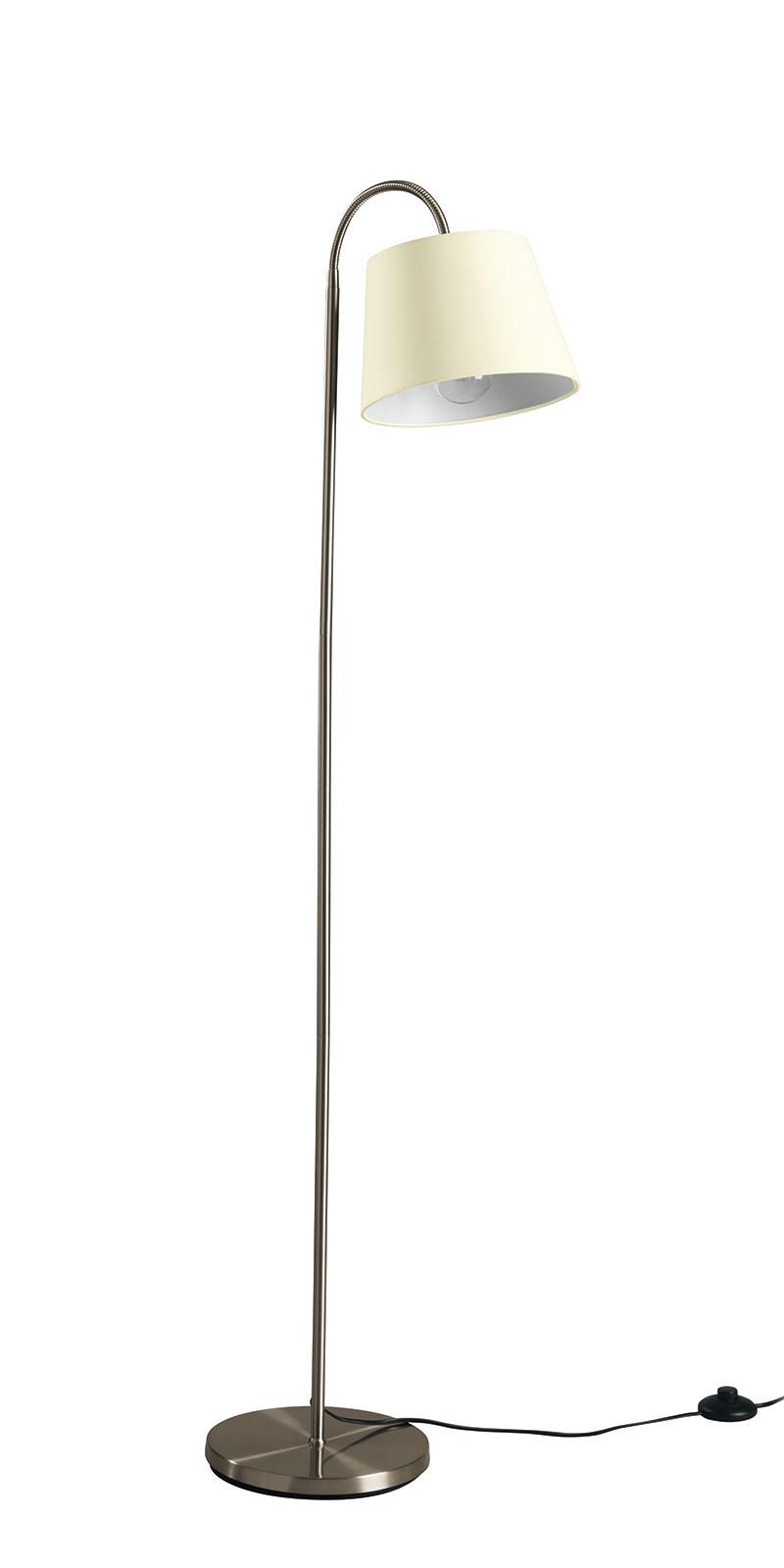 Beistellleuchte led textil creme stehlampe stehlampe for Stehlampe leselampe