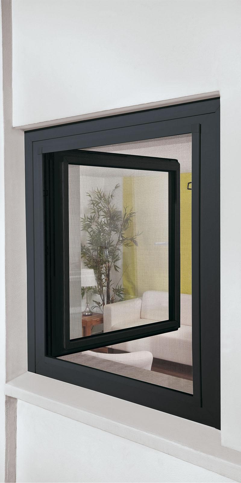 insektenschutz f r fenster 130x150 blauer engel anthrazit. Black Bedroom Furniture Sets. Home Design Ideas