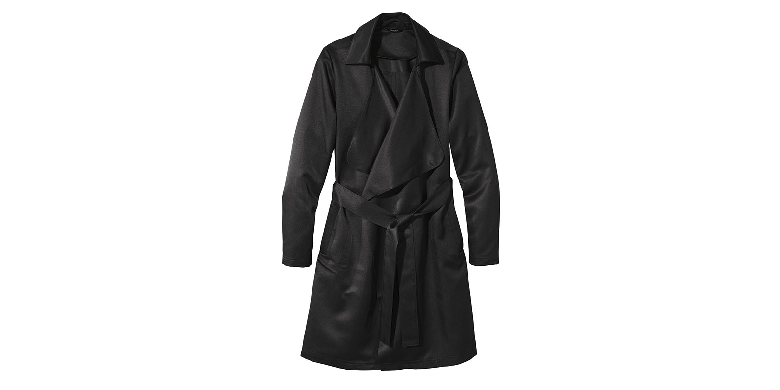 damen trenchcoat schwarz ean149 jacke. Black Bedroom Furniture Sets. Home Design Ideas