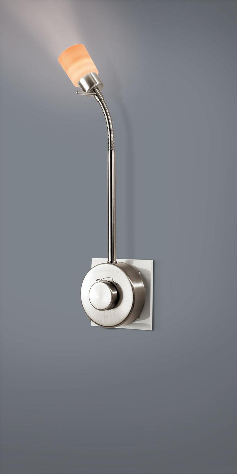 led steckdosenleselampe mit dimmer led- steckdosenleuchte glasform