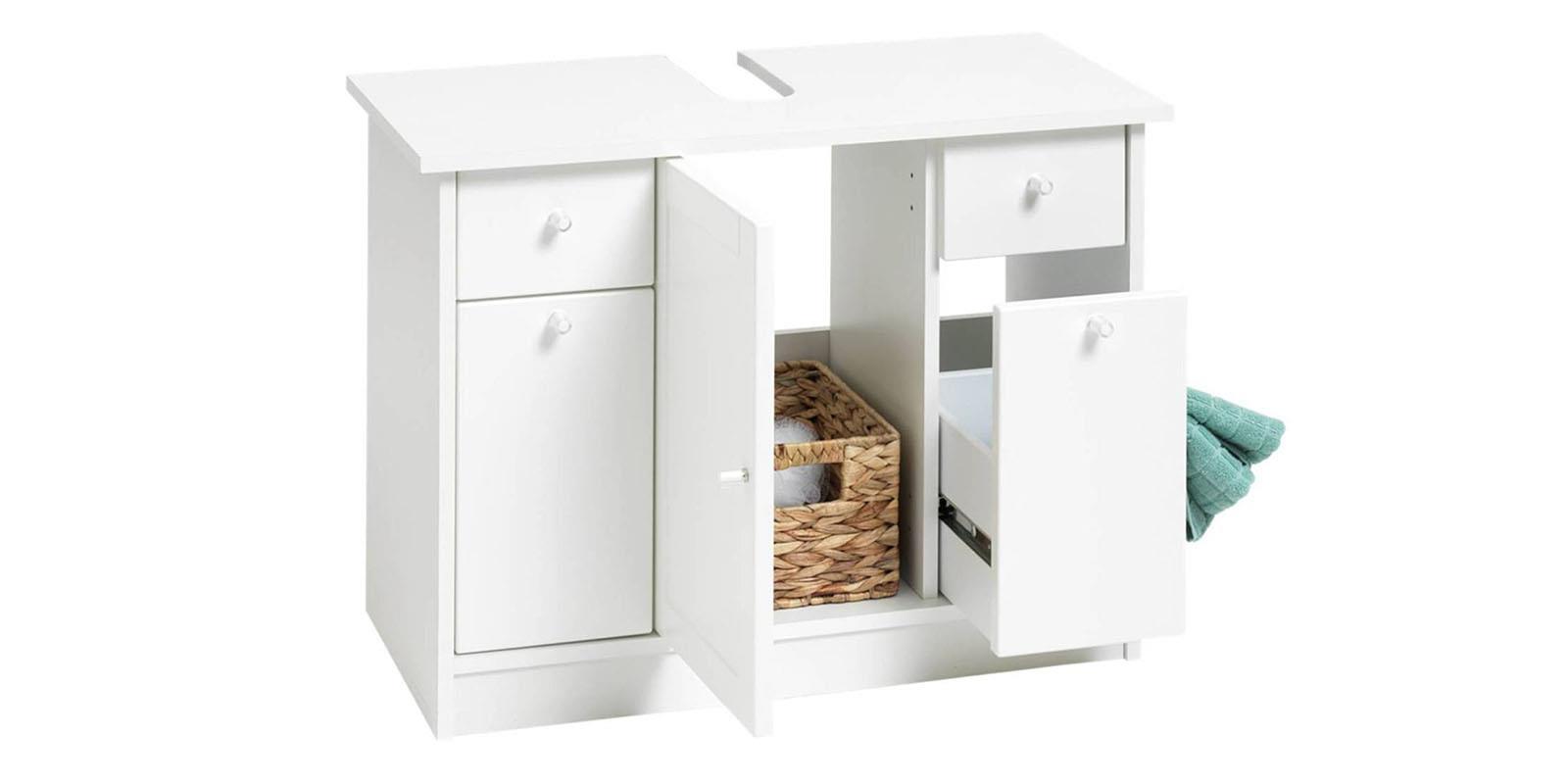 bad waschbeckenunterschrank weiss livarno living unterschrank badezimmer ebay. Black Bedroom Furniture Sets. Home Design Ideas