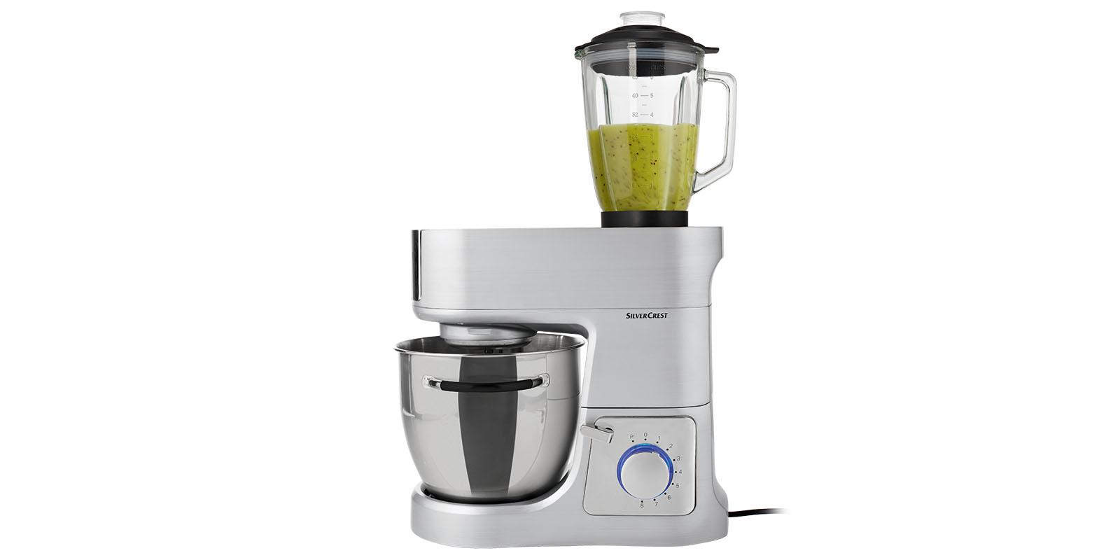 Küchenmaschine Vollmetall SKV1200 A1 Silvercrest 6 Liter 1200W ...