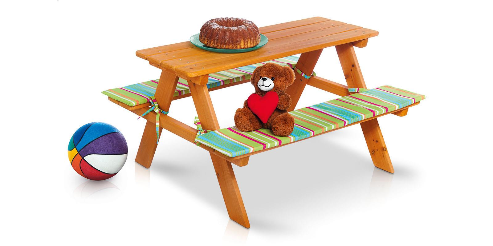 garten kinder sitzgarnitur mit auflage florabest kindermöbel