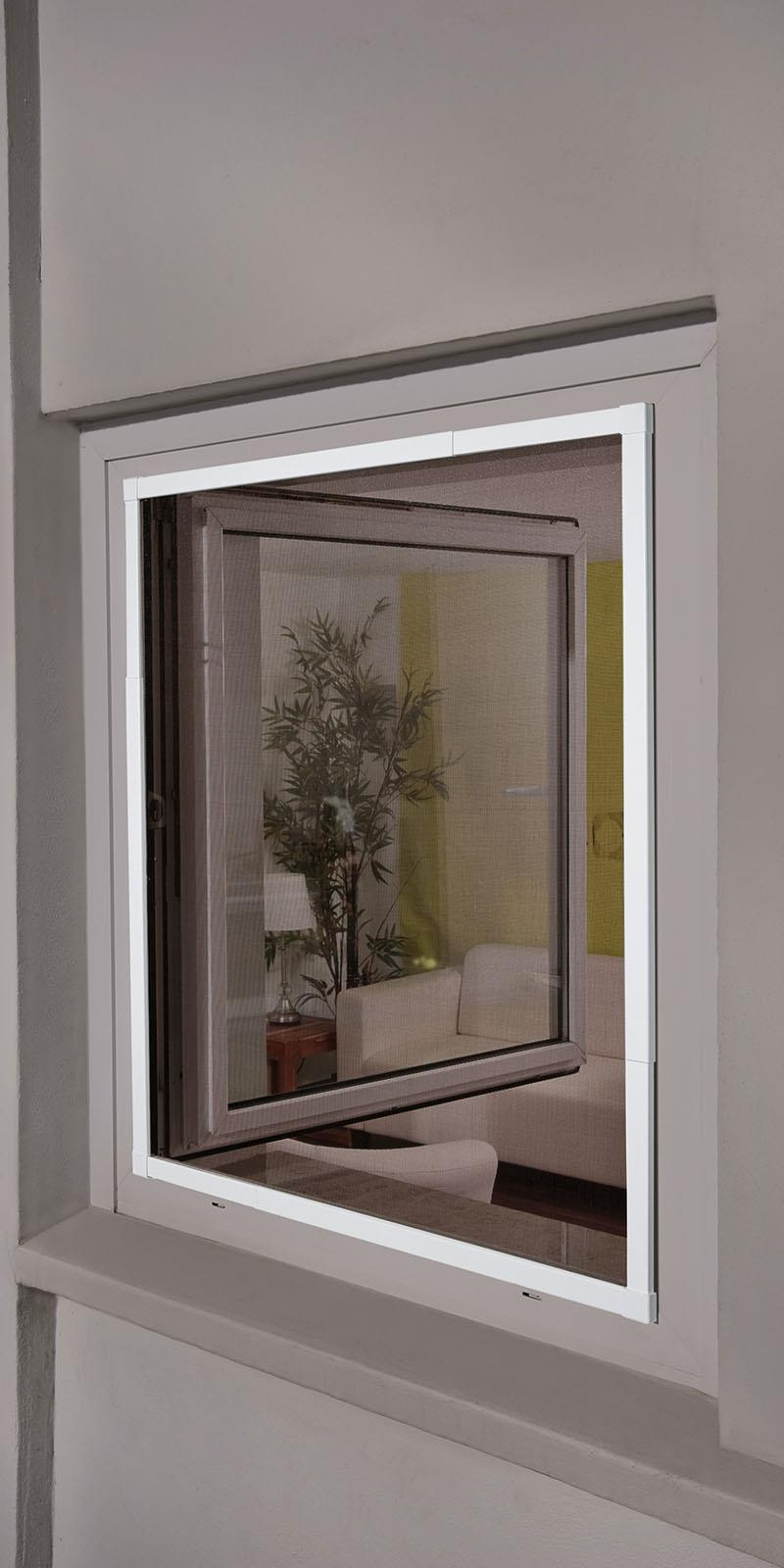 insektenschutz f r fenster teleskopierbar 120x140 weiss ral 9016 fliegengitter p ebay. Black Bedroom Furniture Sets. Home Design Ideas