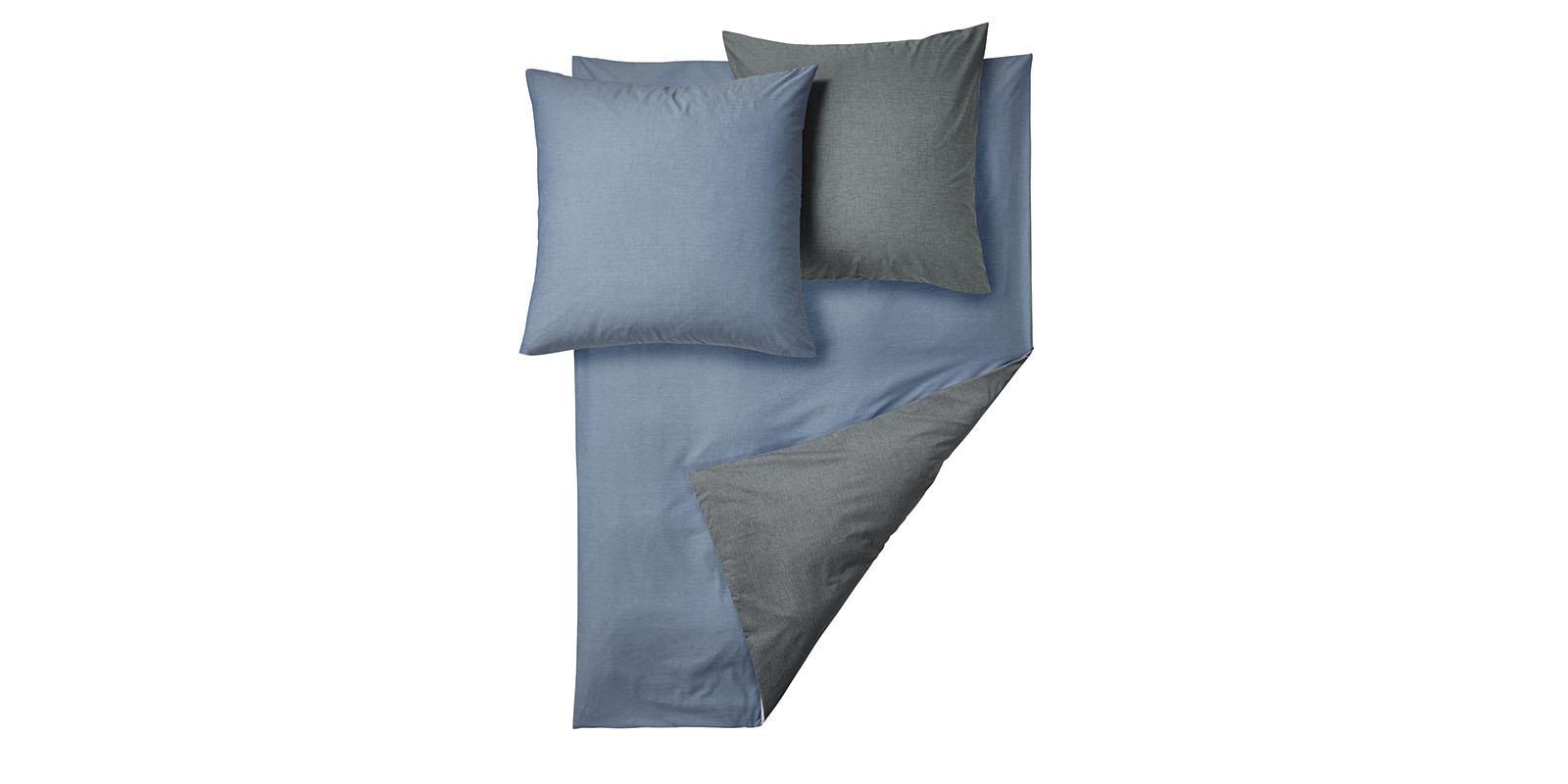 wendebettw sche king size 200x220 hellblau dunkelb. Black Bedroom Furniture Sets. Home Design Ideas