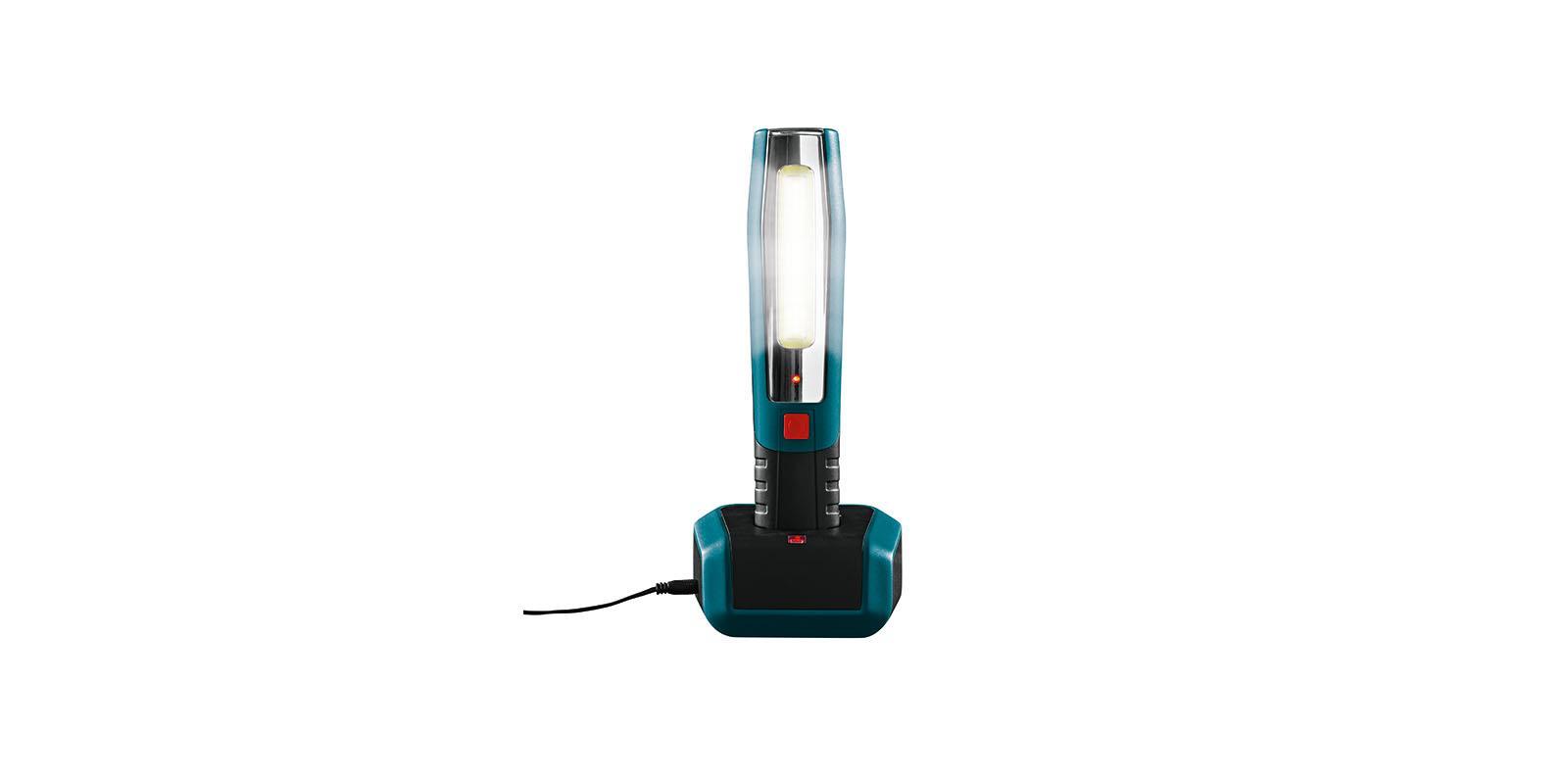 led akku arbeitsleuchte led mit ladestation taschenlampe. Black Bedroom Furniture Sets. Home Design Ideas