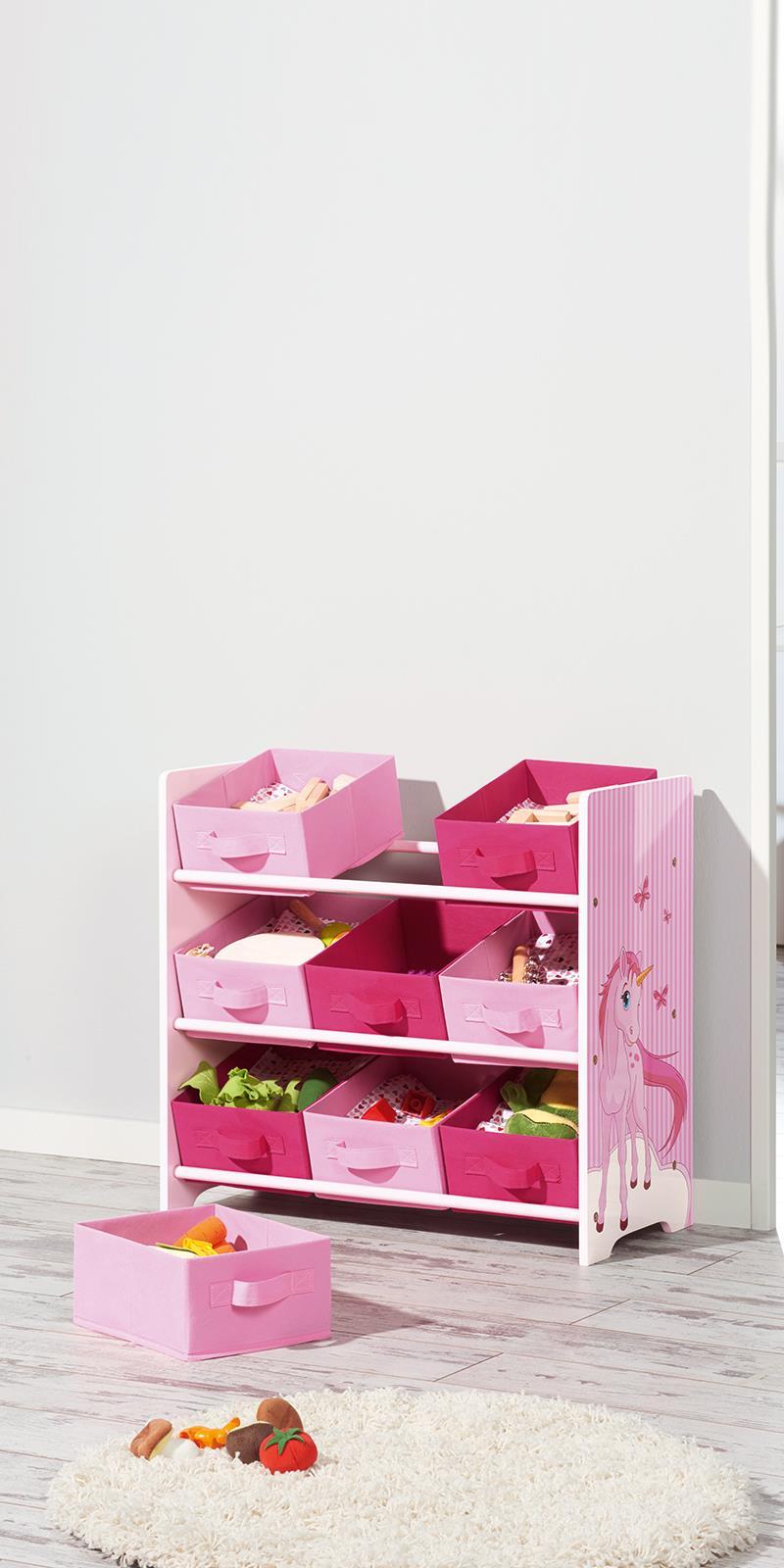 LIVARNO Kinder Aufbewahrungsregal pink Regal Einhorn Spielzeugregal ...