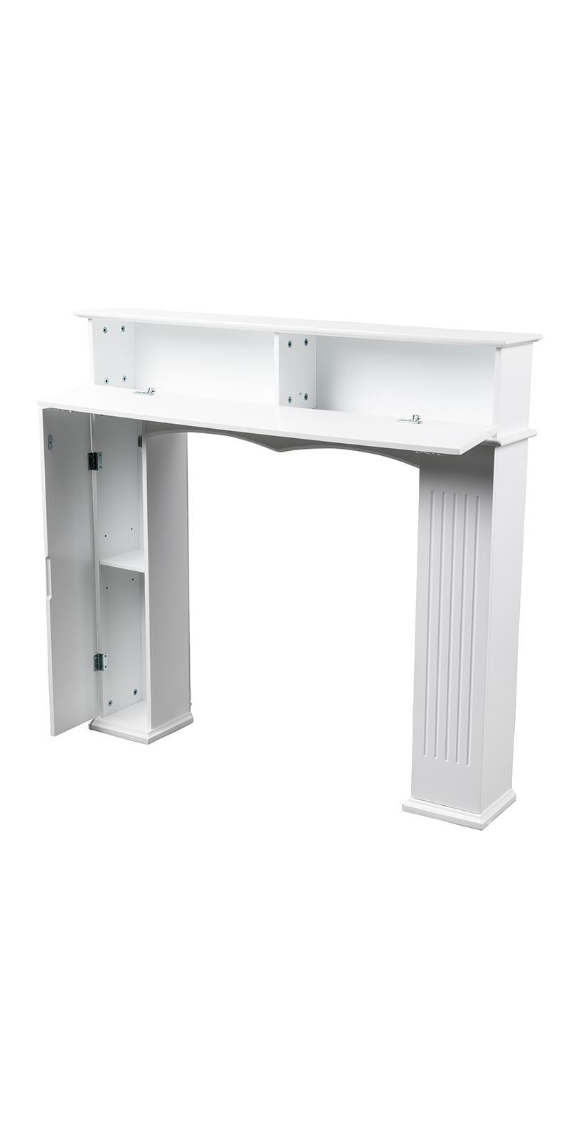 Kaminkonsole Weiß 107 x 100 x 18cm Kaminverkleidung Dekokamin Kaminsims Attrappe