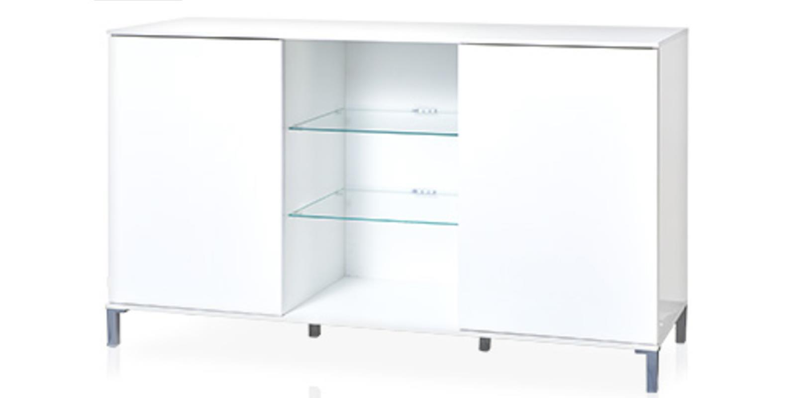 living style sideboard 138 x 84 x 42 cm wei kommode. Black Bedroom Furniture Sets. Home Design Ideas