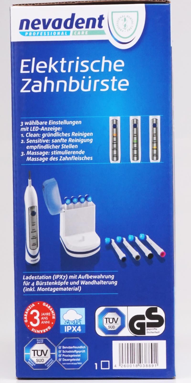 Elektrische akku zahnb rste blau nevadent elektrische - Elektrische zahnburste mit wandhalterung ...