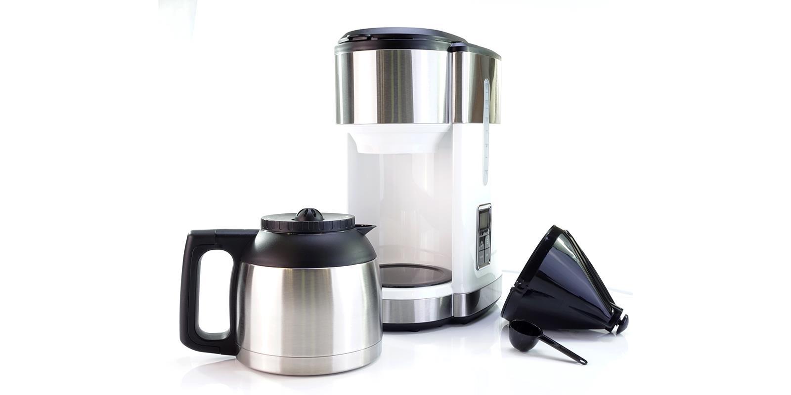 kaffeemaschine design eds mit thermoskanne timer skmd 1000 a1 weiss ebay. Black Bedroom Furniture Sets. Home Design Ideas